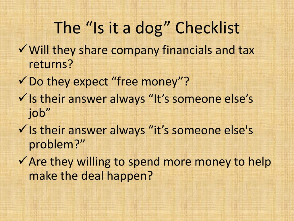 """The """"Is it a dog"""" Checklist ✓Will they share co..."""