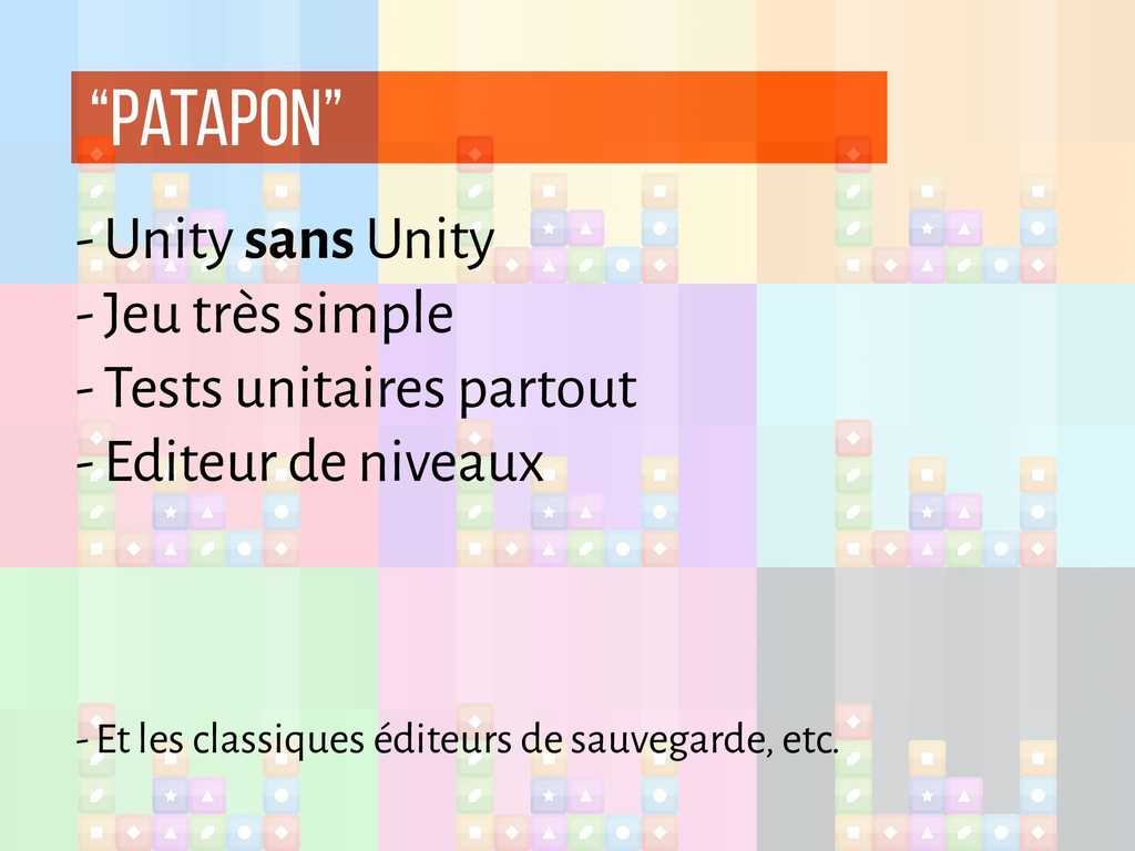 """patapon"" - Unity sans Unity - Jeu très simple ..."
