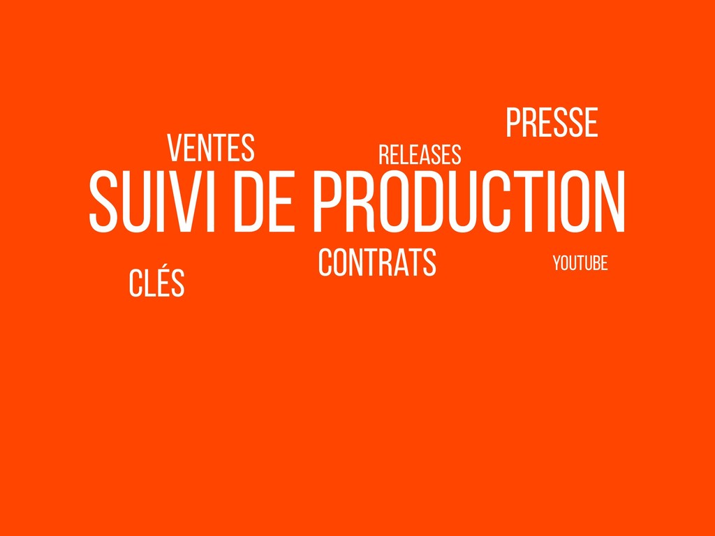 clés suivi de production presse YouTube Ventes ...