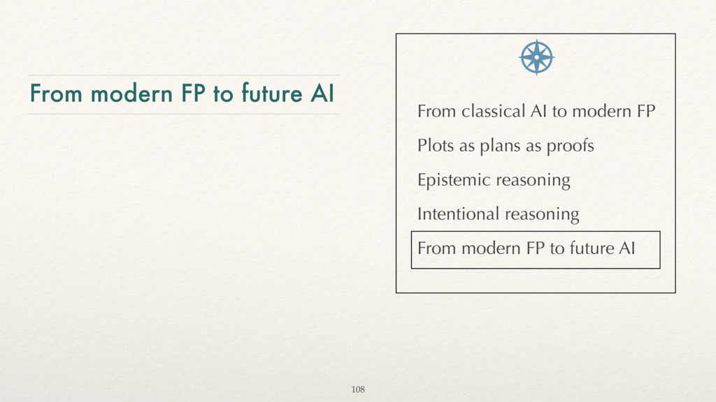 From modern FP to future AI From classical AI t...