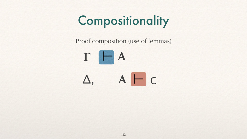 Compositionality Proof composition (use of lemm...