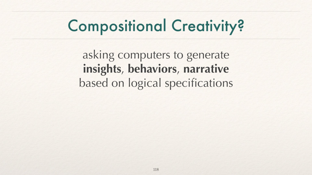 Compositional Creativity? asking computers to g...