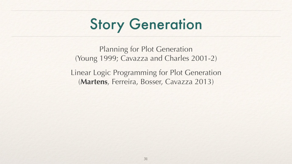 Story Generation Planning for Plot Generation ...
