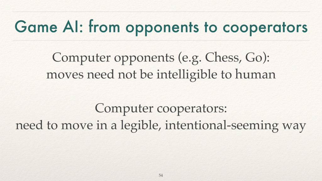 Game AI: from opponents to cooperators Computer...
