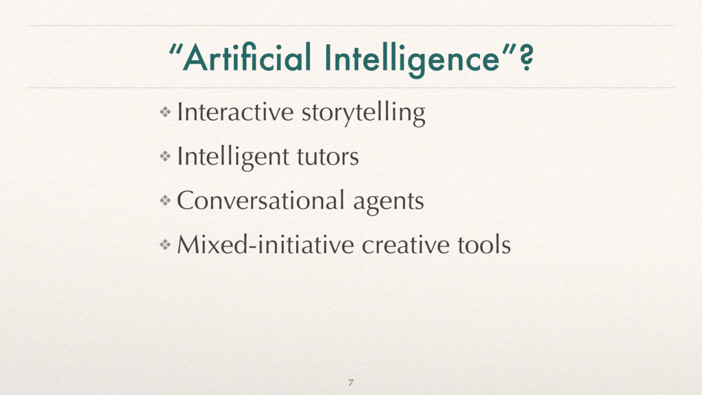 """Artificial Intelligence""? ❖ Interactive storyte..."