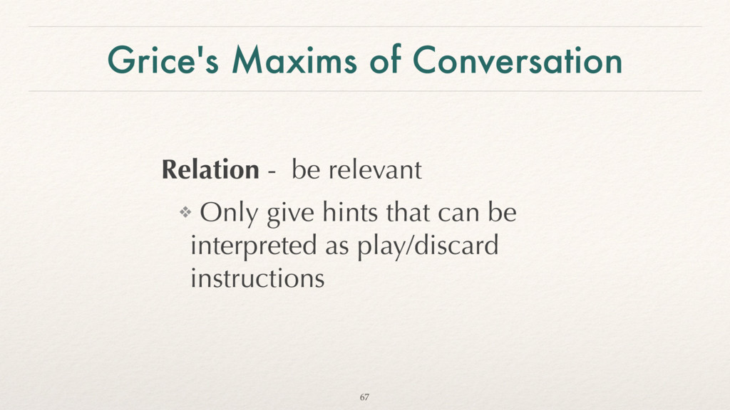Grice's Maxims of Conversation Relation - be re...
