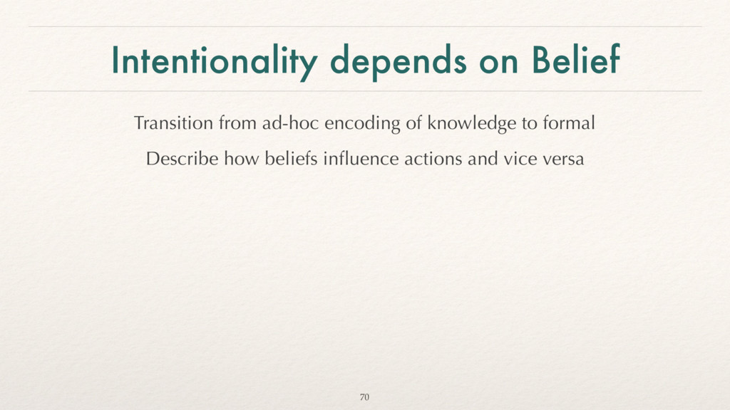 Intentionality depends on Belief Transition fro...