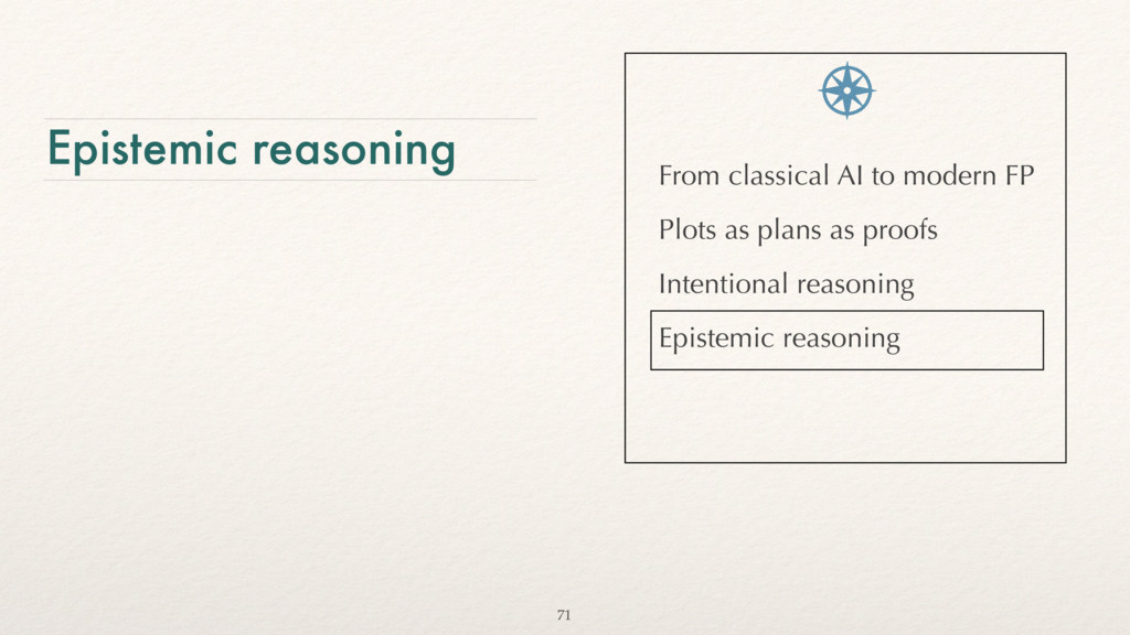 Epistemic reasoning From classical AI to modern...