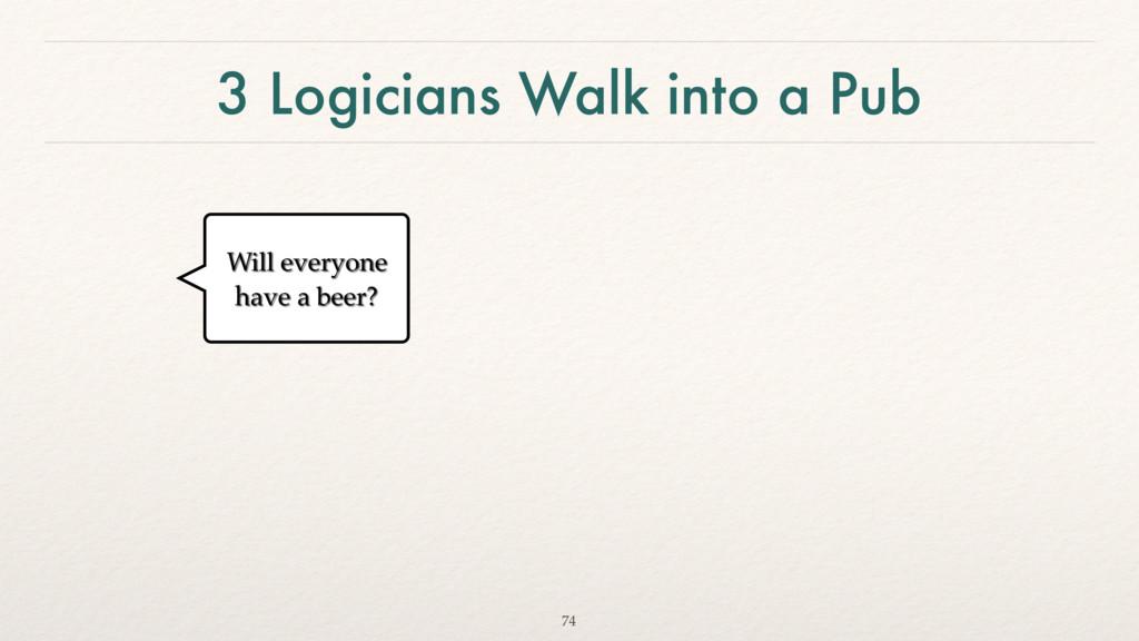 3 Logicians Walk into a Pub 74 Will everyone ha...