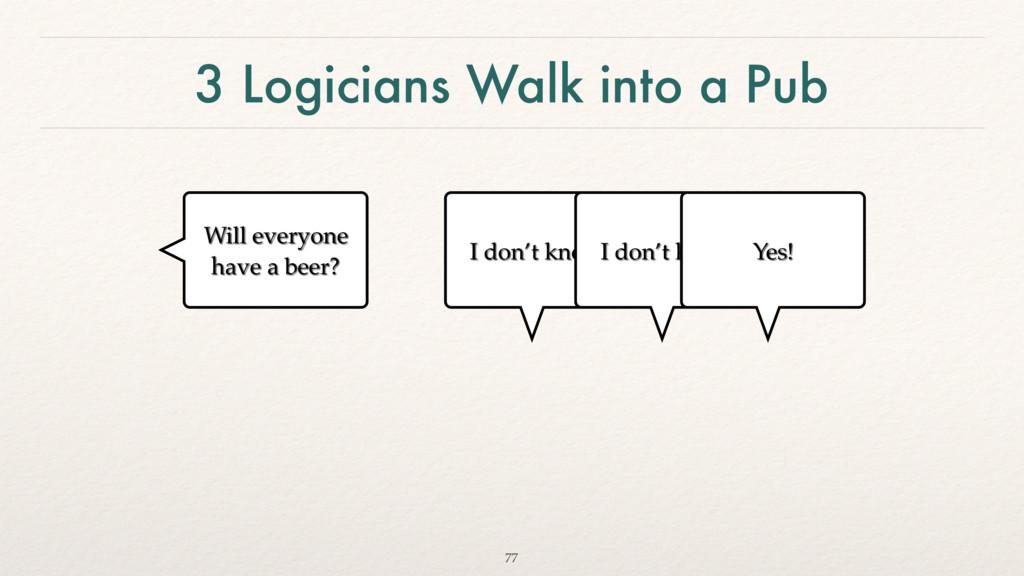 3 Logicians Walk into a Pub 77 Will everyone ha...