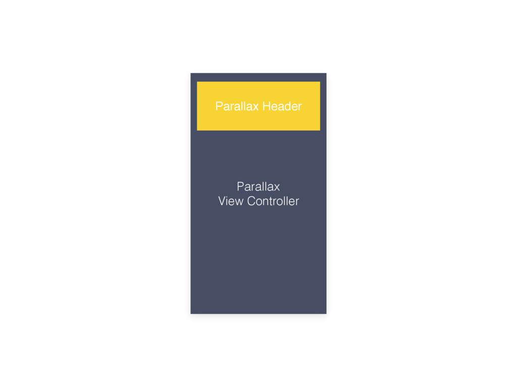 Parallax View Controller Parallax Header