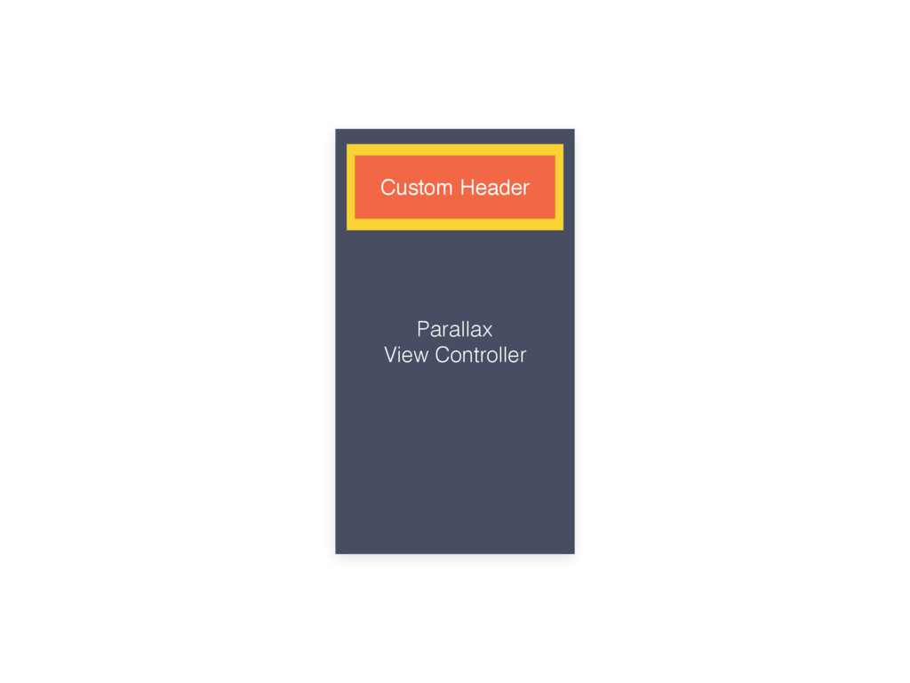 Parallax View Controller Parallax Header Custom...
