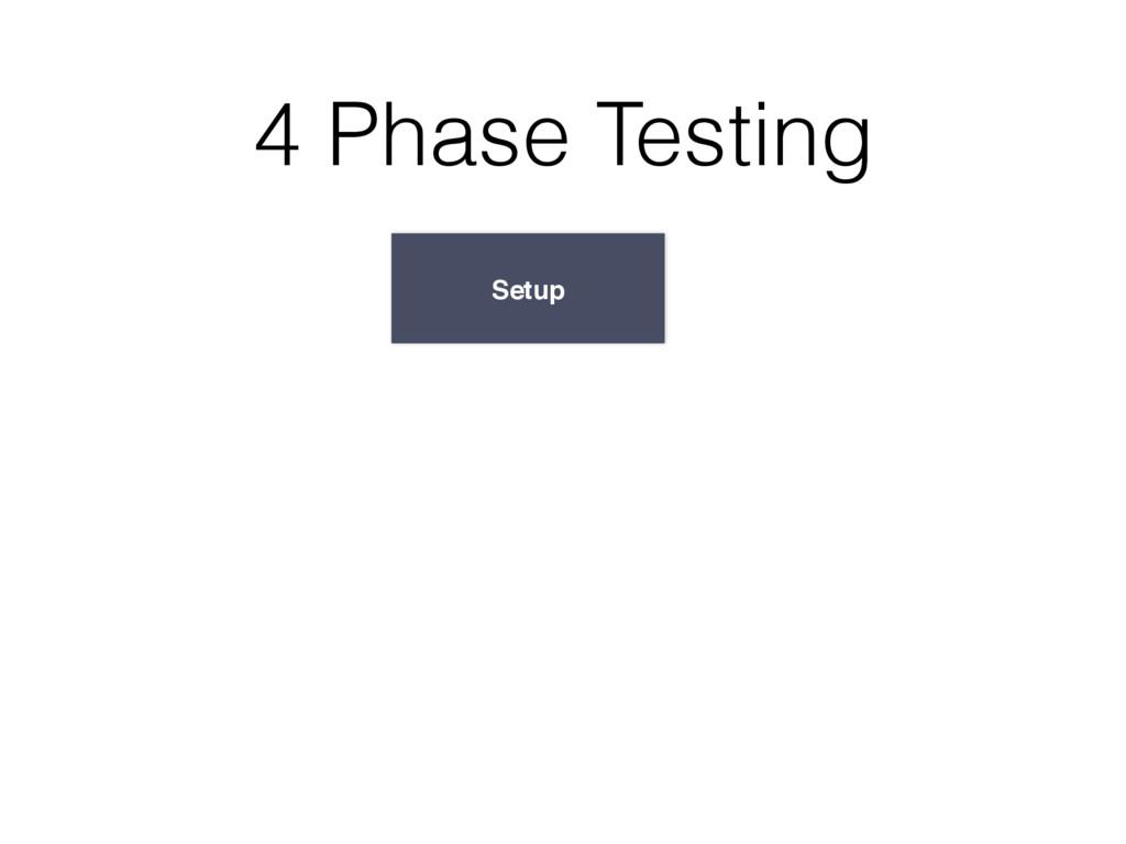 Setup 4 Phase Testing