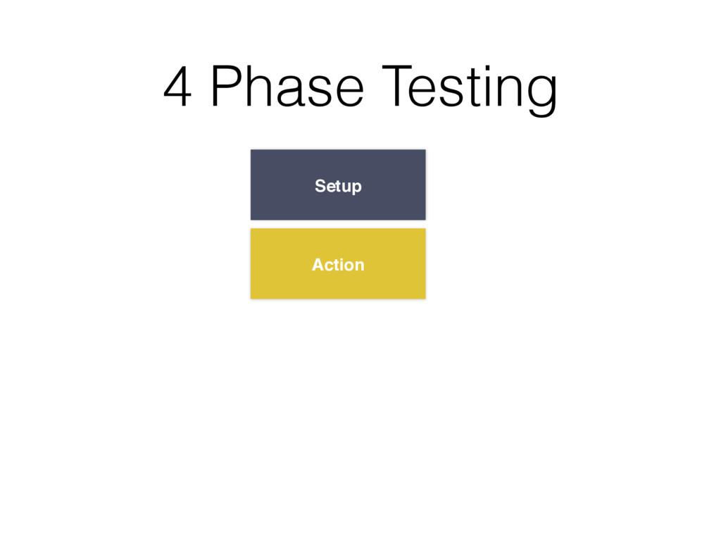 Setup Action 4 Phase Testing