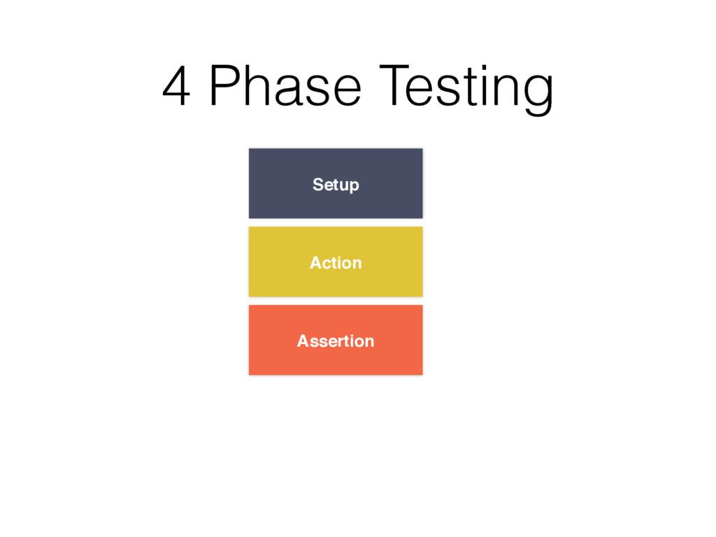 Setup Action Assertion 4 Phase Testing