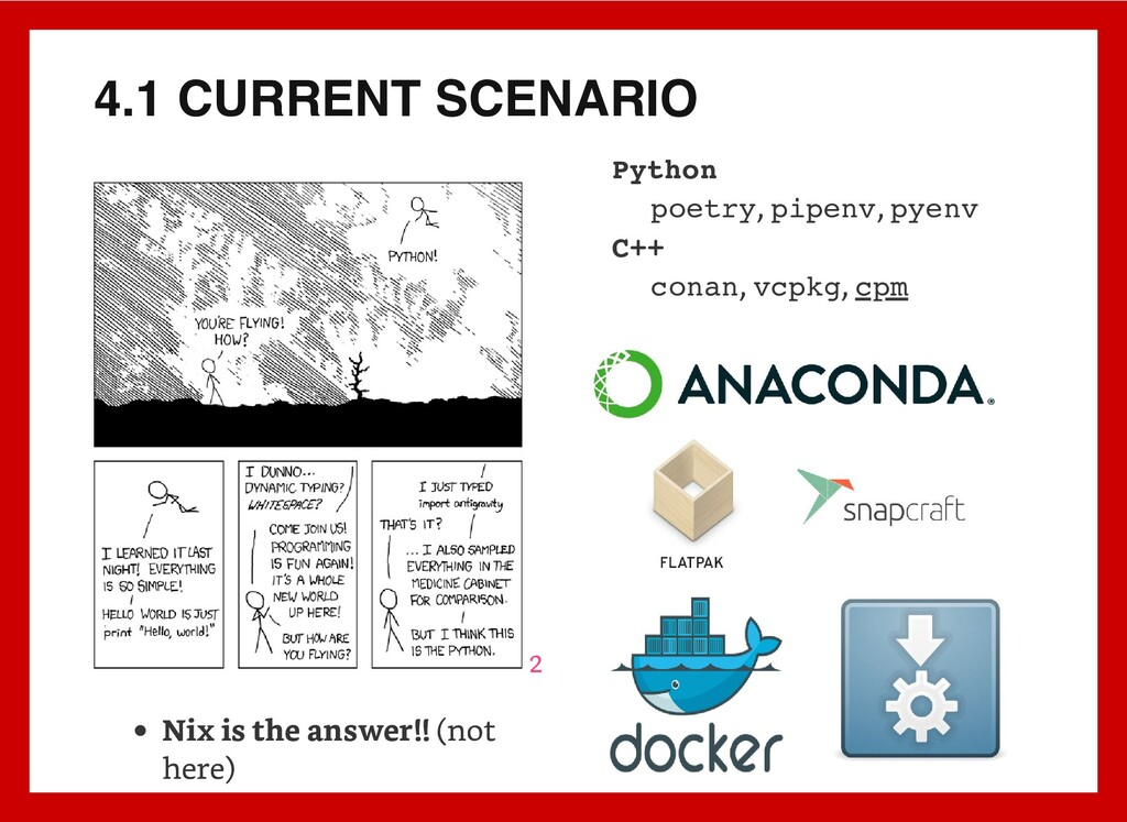 4.1 CURRENT SCENARIO 2 Nix is the answer!! (not...