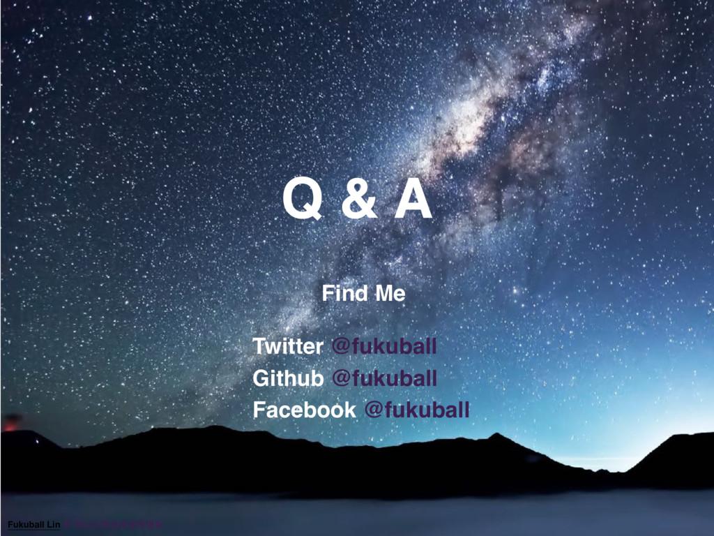 Q & A Find Me Twitter @fukuball Github @fukubal...