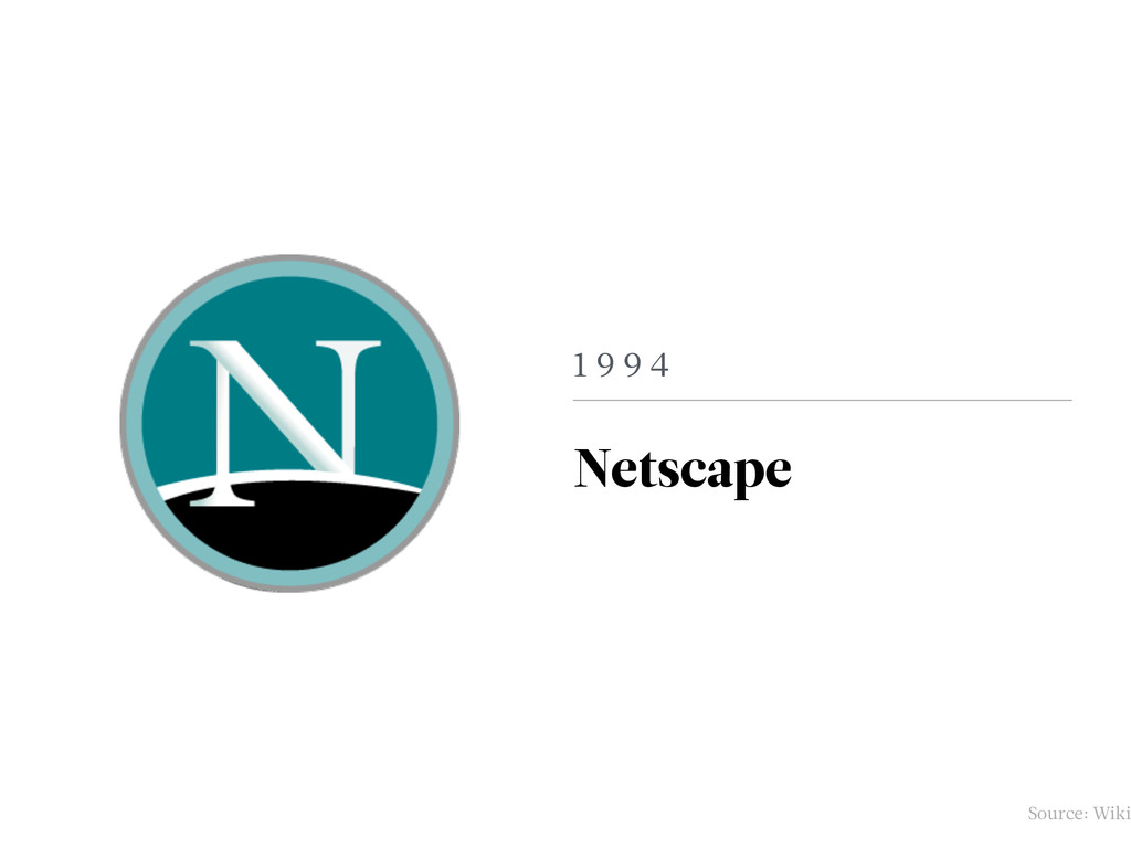 1 9 9 4 Netscape Source: Wiki