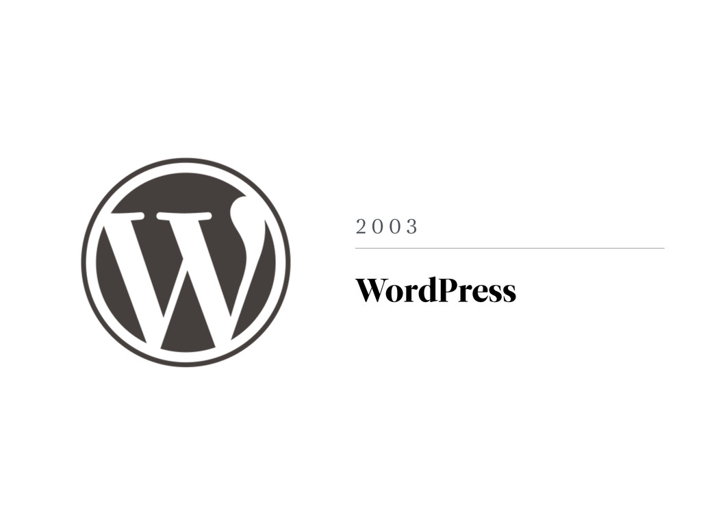 2 0 0 3 WordPress