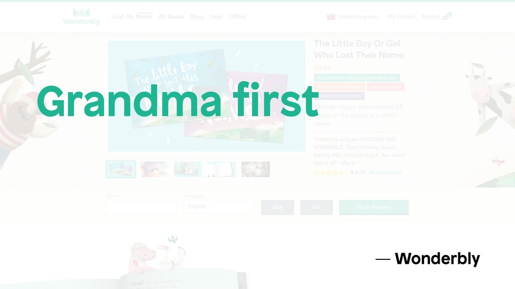 Grandma first — Wonderbly