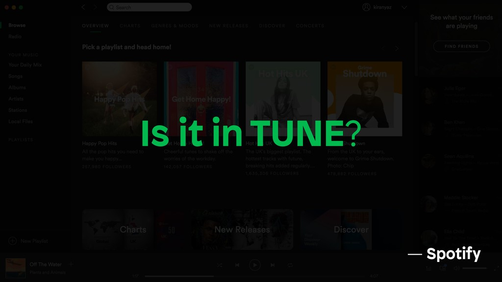 Is it in TUNE? — Spotify
