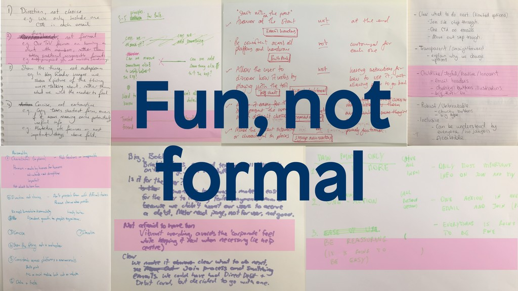 Fun, not formal