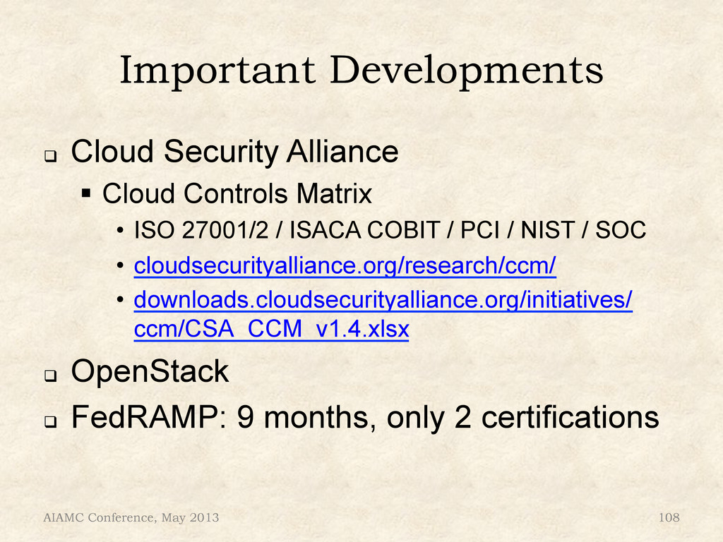 Important Developments ! Cloud Security Allian...