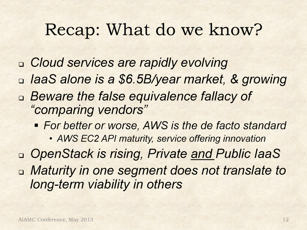 Recap: What do we know? ! Cloud services are r...
