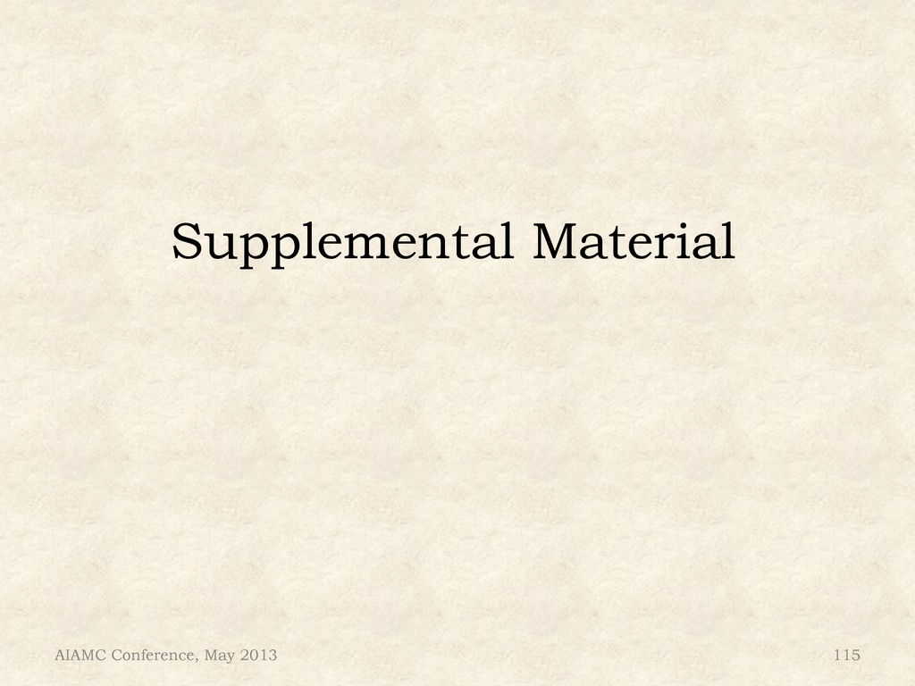 Supplemental Material AIAMC Conference, May 201...