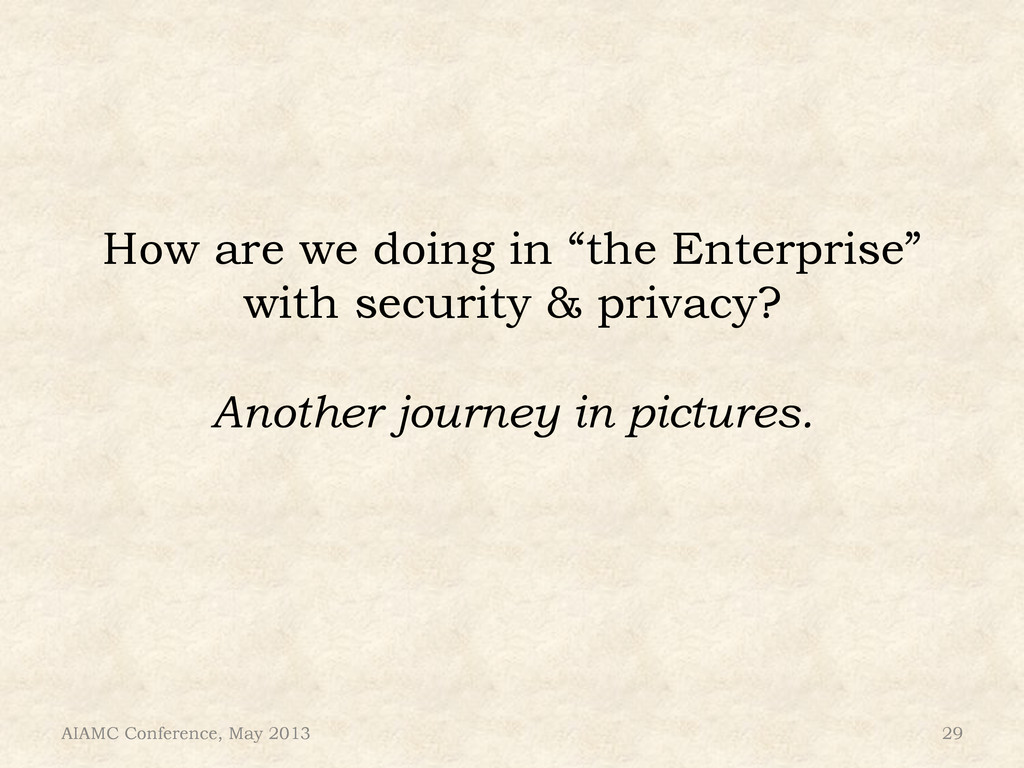 """How are we doing in """"the Enterprise"""" with secur..."""
