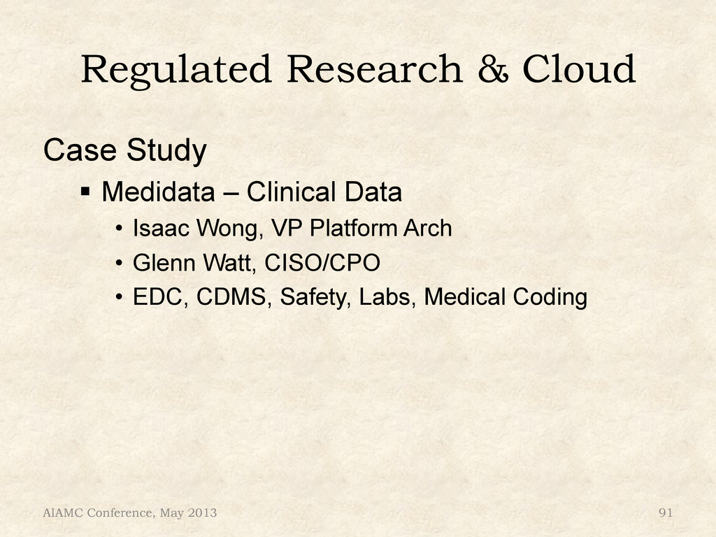 """Regulated Research & Cloud Case Study """" Medida..."""