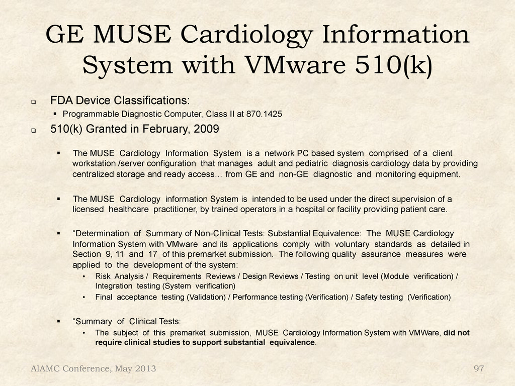 GE MUSE Cardiology Information System with VMwa...