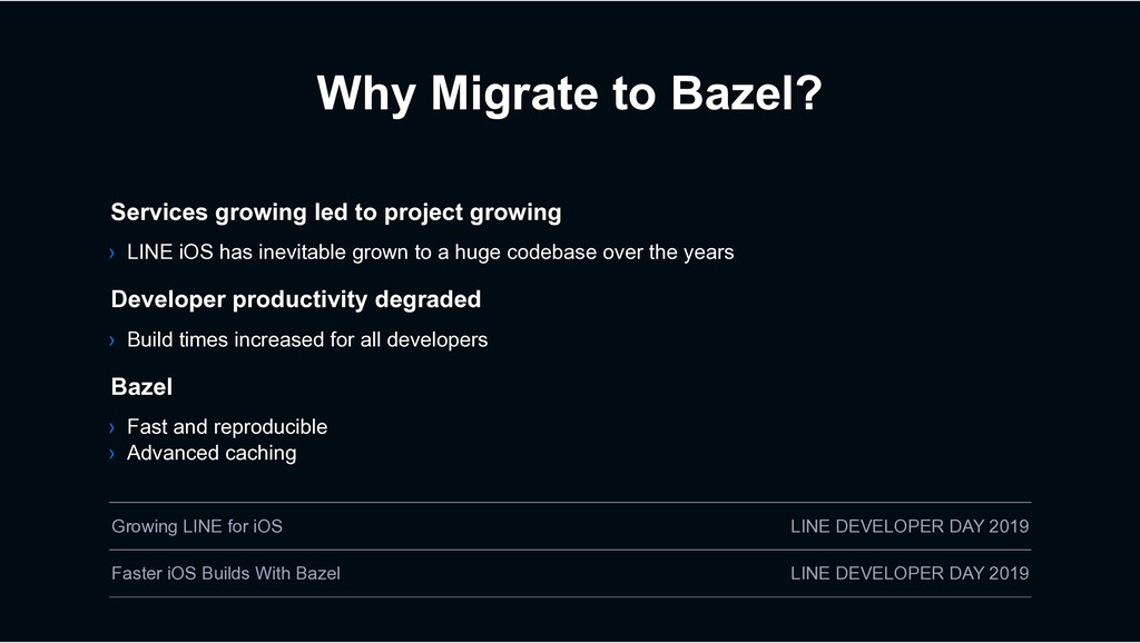 Why Migrate to Bazel? › Build times increased f...