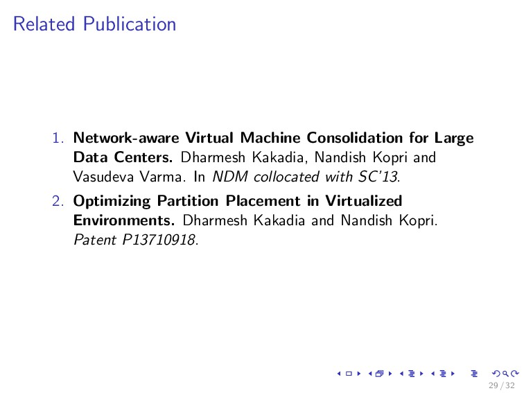 Related Publication 1. Network-aware Virtual Ma...