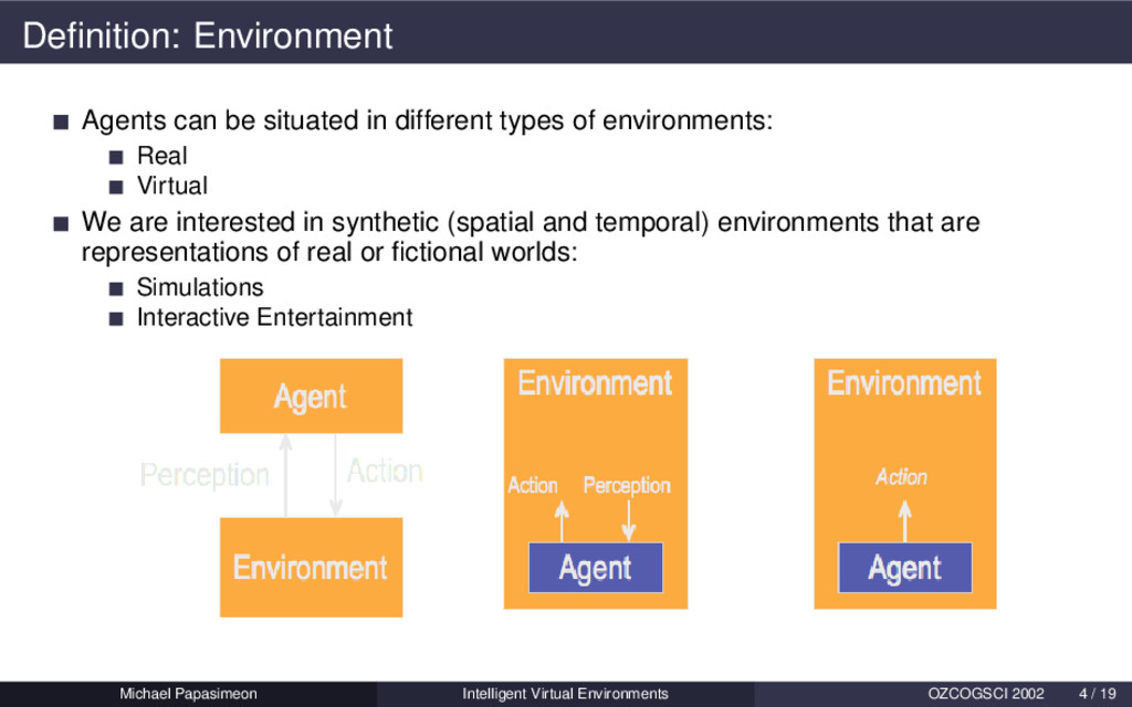 Definition: Environment Agents can be situated i...