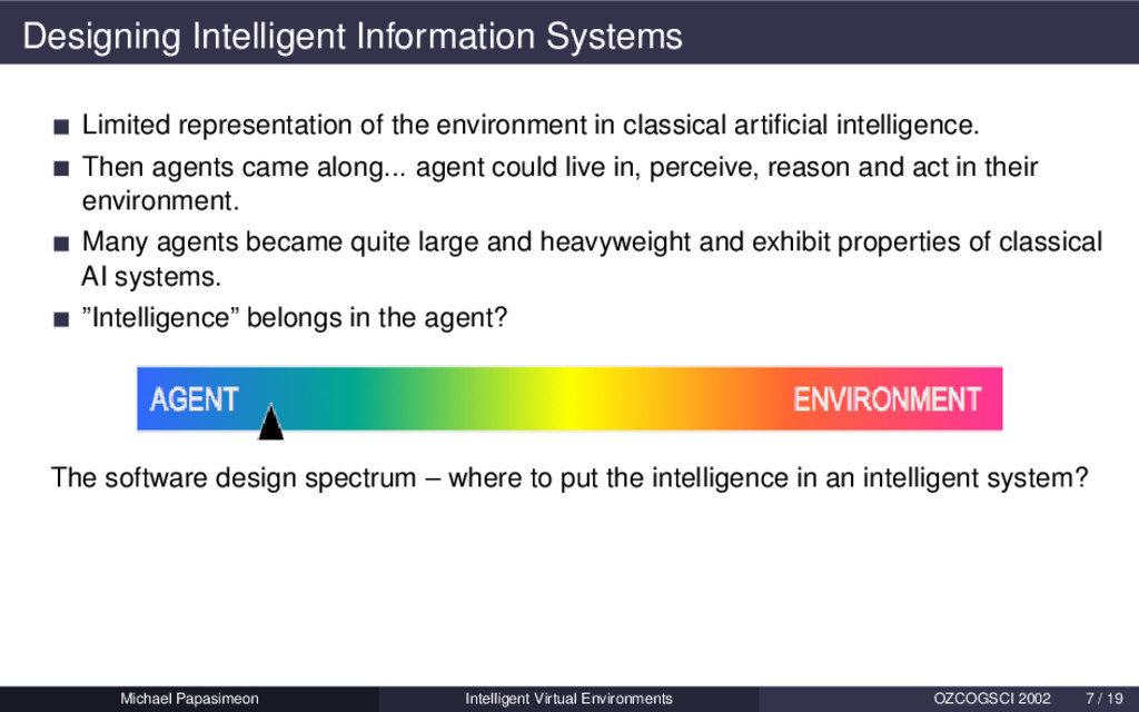 Designing Intelligent Information Systems Limit...