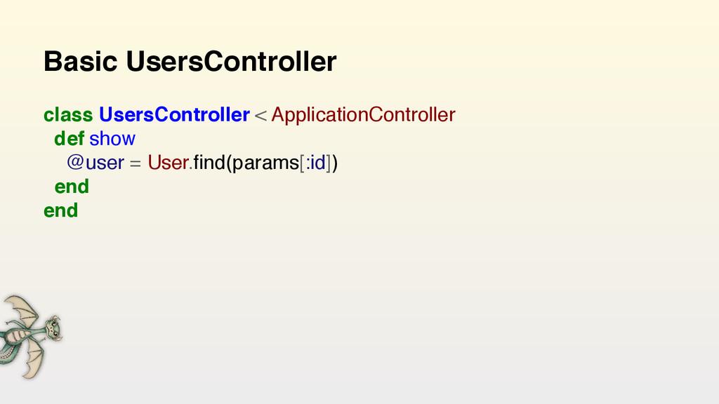 Basic UsersController class UsersController < A...