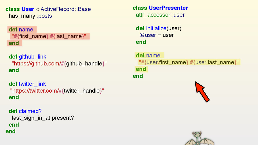 class User < ActiveRecord::Base has_many :posts...