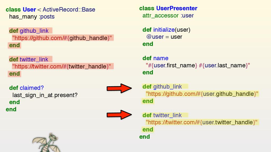 class UserPresenter attr_accessor :user  def...