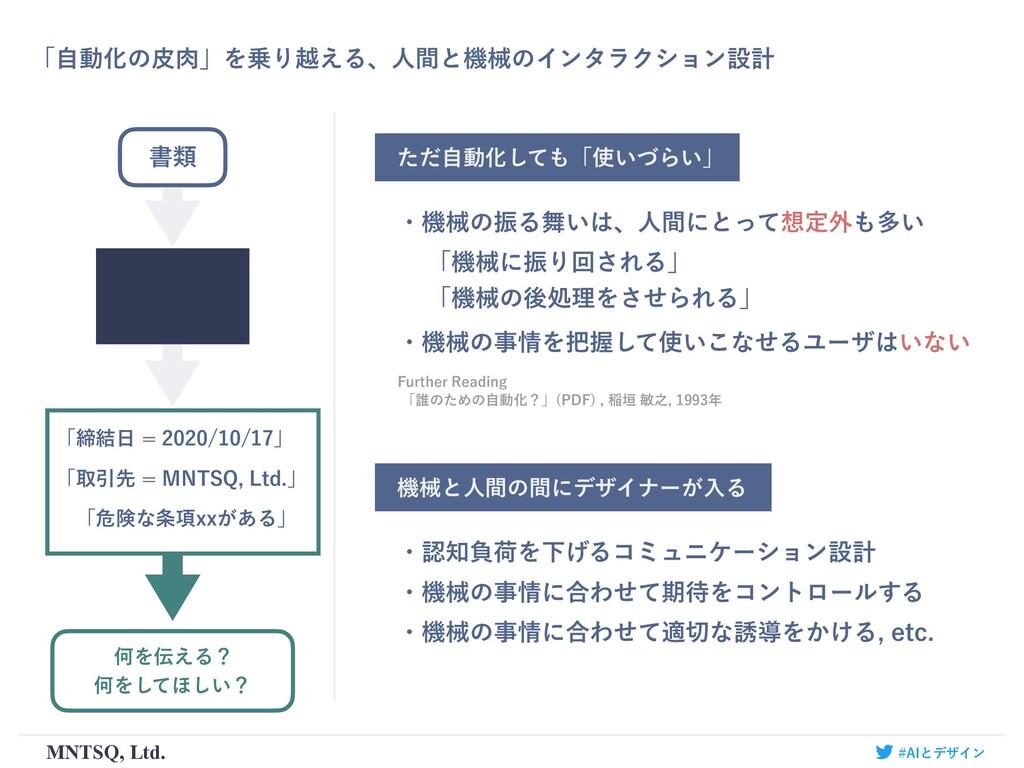 ʮࣗಈԽͷൽʯΛΓӽ͑ΔɺਓؒͱػցͷΠϯλϥΫγϣϯઃܭ MNTSQ, Ltd. ͨͩࣗ...
