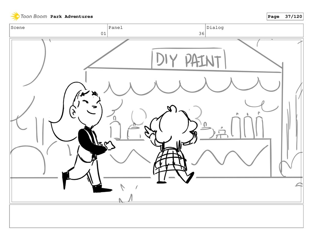 Scene 01 Panel 36 Dialog Park Adventures Page 3...