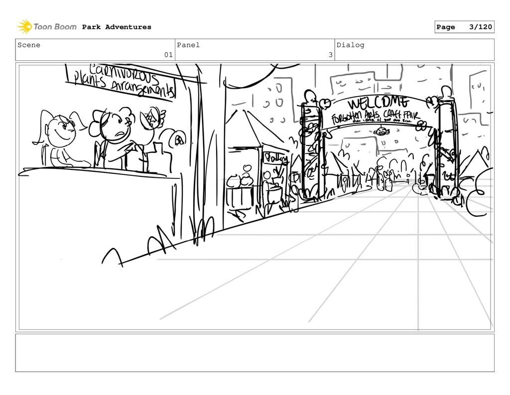 Scene 01 Panel 3 Dialog Park Adventures Page 3/...