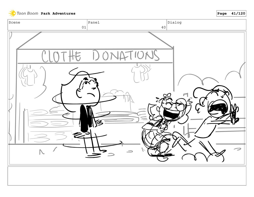 Scene 01 Panel 40 Dialog Park Adventures Page 4...