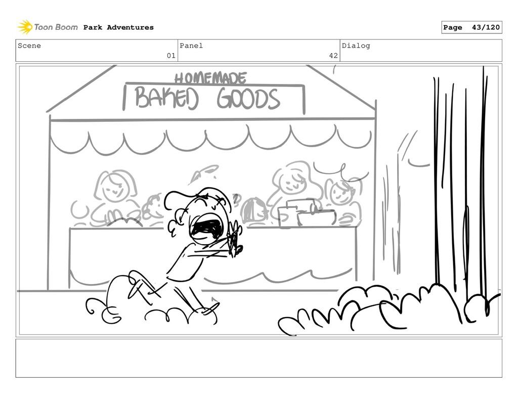 Scene 01 Panel 42 Dialog Park Adventures Page 4...