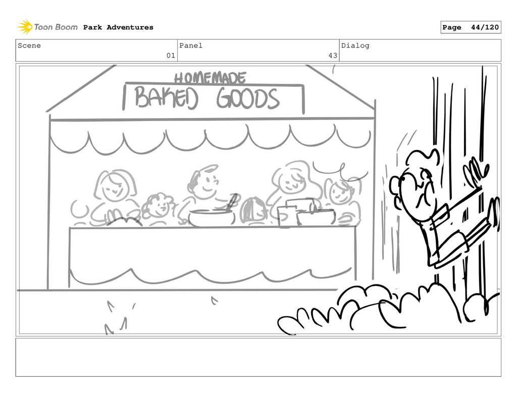 Scene 01 Panel 43 Dialog Park Adventures Page 4...