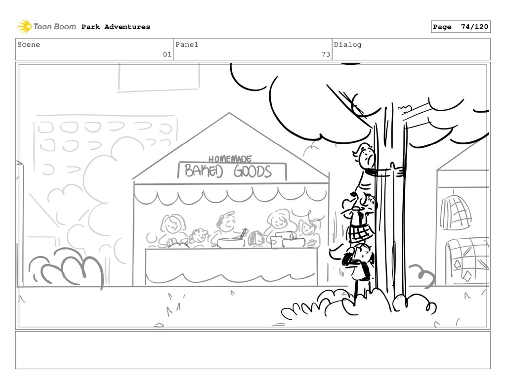 Scene 01 Panel 73 Dialog Park Adventures Page 7...