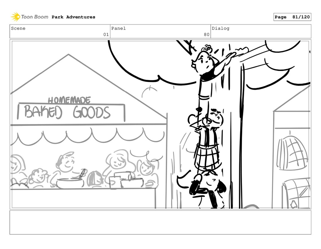 Scene 01 Panel 80 Dialog Park Adventures Page 8...