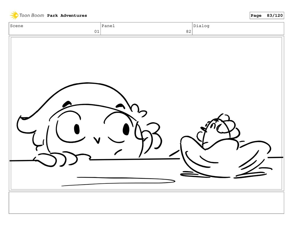 Scene 01 Panel 82 Dialog Park Adventures Page 8...