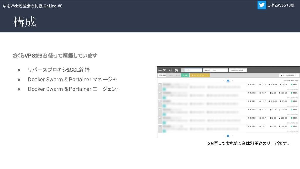 ゆるWeb勉強会@札幌 OnLine #8 #ゆるWeb札幌 構成 さくらVPSを3台使って構...