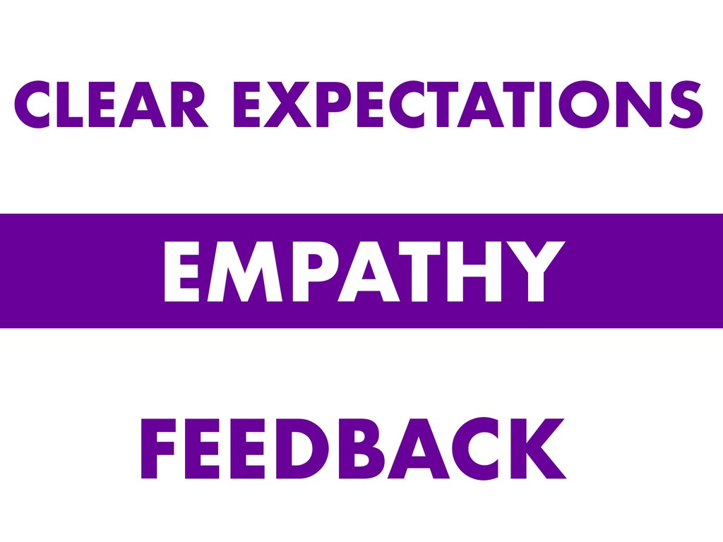 EMPATHY CLEAR EXPECTATIONS FEEDBACK